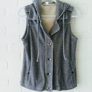 Coldwater Creek hooded knit vest S (6-8)